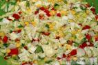 Recept Kukuřicový salát s olivami a rajčaty - příprava salátu