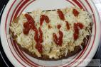 Recept Ďábelská topinka s míchanými vejci a sýrem - topinky - návrh na servírování