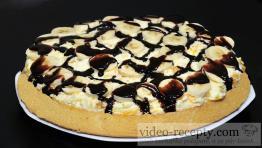Třepací mandarinkový dort s banánem a čokoládou