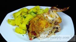 Pikantní grilované kuře s nádivkou