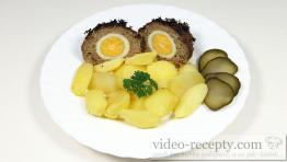 Masové koule se sojou plněné vejcem