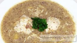 Koprová polévka s liškami a sázenými vejci