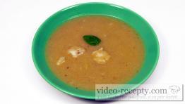 Smetanová květáková polévka s bazalkou