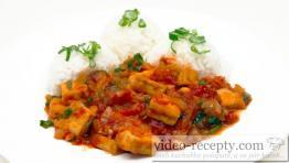 Rajčatové tofu s bazalkou