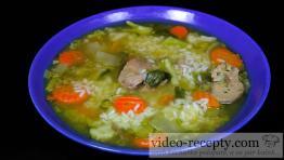 Drůbeží polévka s rýží