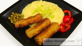 Brokolicové šišky s hráškem