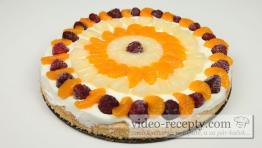 Jednoduchý sušenkový ovocný cheesecake