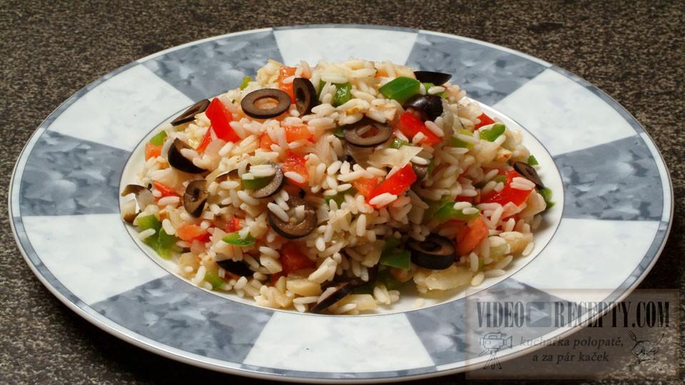 Lehký rýžový salát